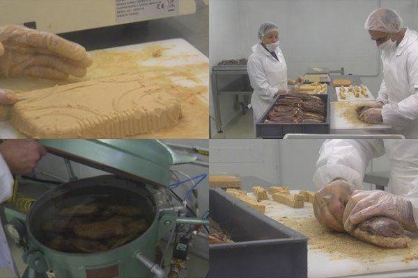 Préparation des magrets de canard fourrés au foie gras