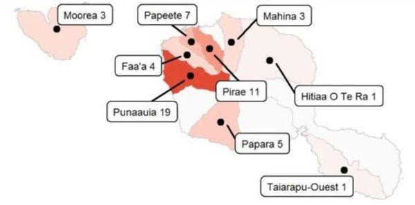 Répartition des cas de coronavirus