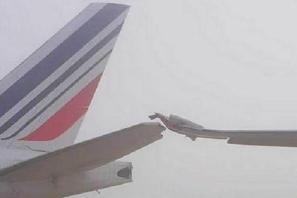 Airbus Air Mauritius accidenté contre un avion d'Air France