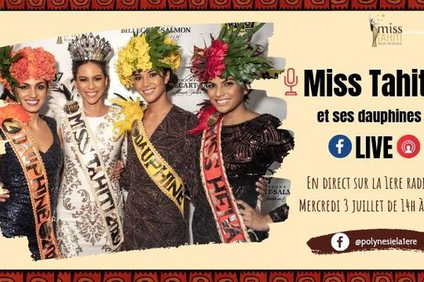 Matahari Bousquet, Miss Tahiti 2019 et ses dauphines dans Taure'a Djeuns !