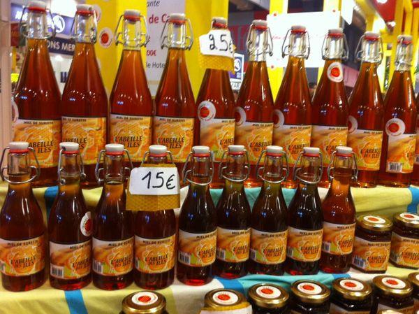 Bocaux de miel guadeloupéen au Salon de l'agriculture