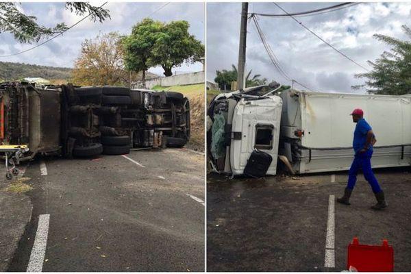 accident camion poubelle