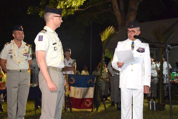 Passation de commandement au Rimap-NC, régiment, camp de Plum, 24 juillet 2020