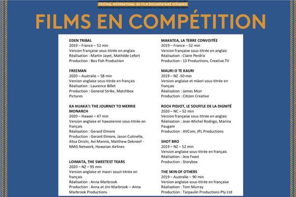 FILMS EN COMPÉTITION