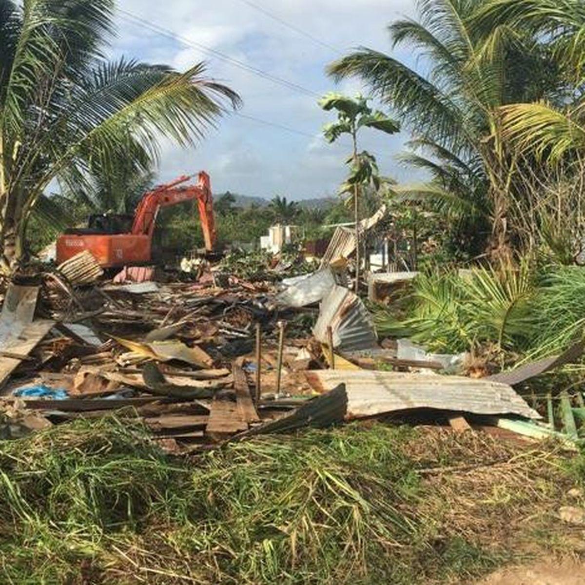 Destruction du squat Marengo à la zone Collery de Cayenne