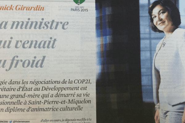 Portrait d'Annick Girardin dans le Journal du dimanche