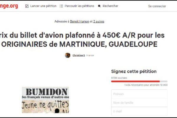 Une pétition pour des billets plafonnés à 450 € pour les Antillais
