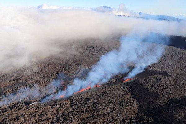 Eruption piton de la fournaise 13 juillet 2018