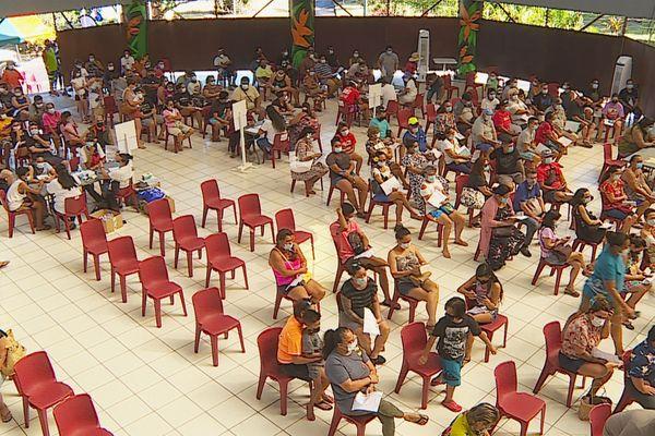 Affluence record au vaccinodrome de Punaauia