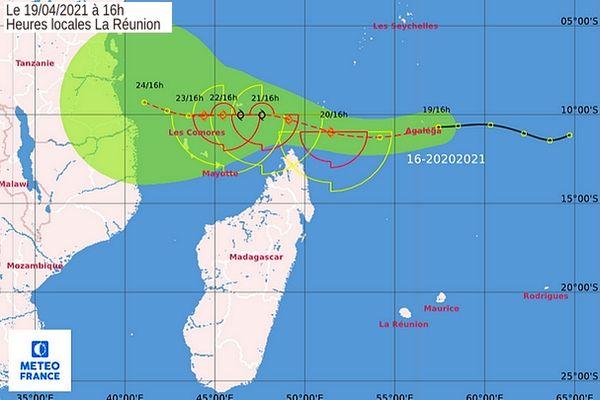 Carte trajectoire perturbation 20 avril 2021