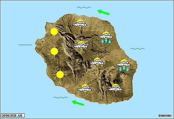 Carte météo 26 juin 2020
