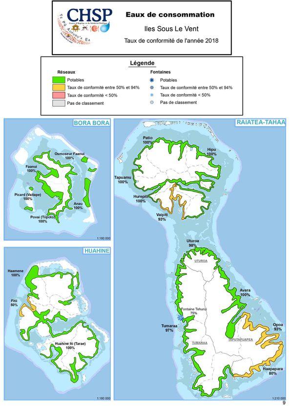 Qualité eau de consommation Iles Sous le Vent