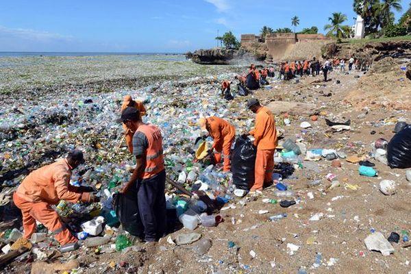 Vague de déchets Saint-Domingue