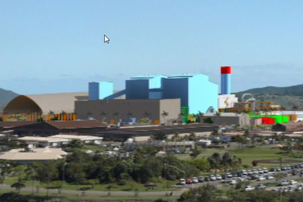 La future centrale électrique de la SLN