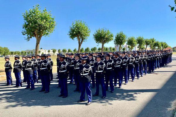 Promotion de sous-officiers calédoniens à l'école de gendarmerie de Rochefort, juillet 2020
