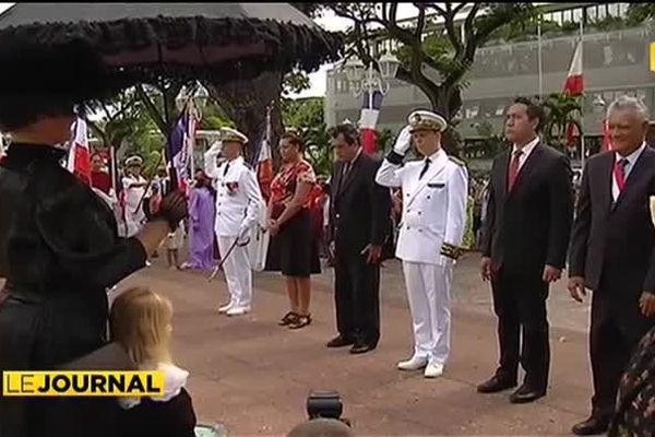 Hommage et stèle en mémoire des victimes de Papeete bombardée