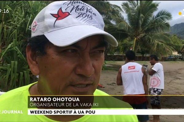 Les rameurs de Ua Pou accueillent ceux de Nuku Hiva