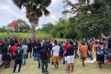 Manifestation au François, dans le cadre du 173e anniversaire de l'abolition de l'esclavage en Martinique.