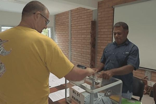 Elections Daniel Goa Hienghène. Vote