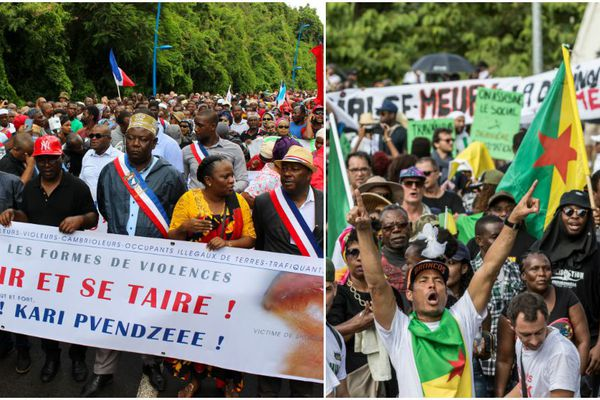 Manif Mayotte et Guyane