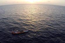 Le skipper Patrice Charlet sur son bateau « La Rebelle »