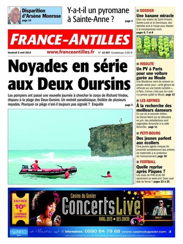 Une France Antilles Guadeloupe 05 avril