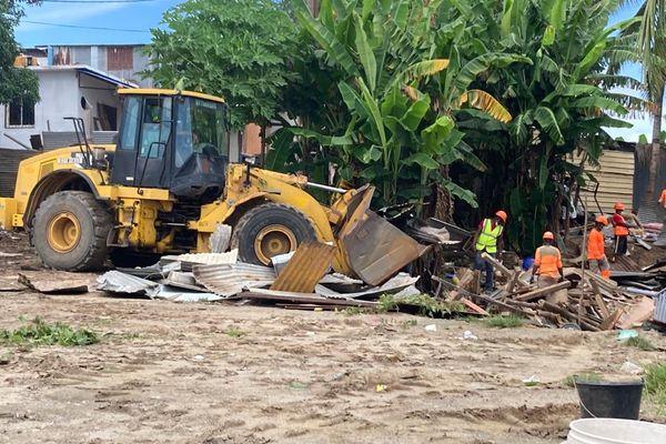 Quartier Cetam à Labattoir, destruction cases illégales