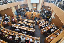 Séance d'installation de la nouvelle gouvernance de la Collectivité Territoriale de Martinique (2 juillet 2021).