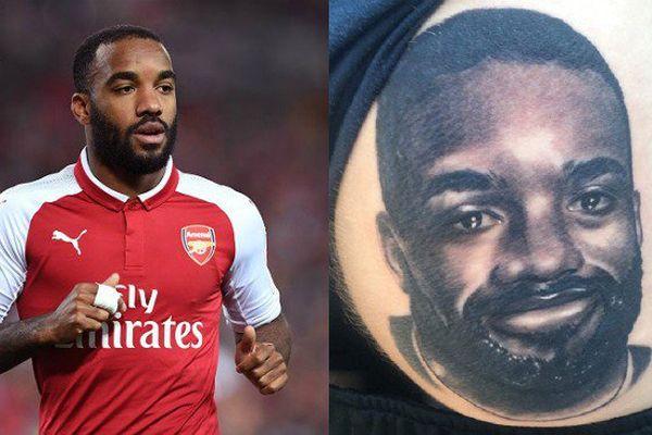 Un fan se fait tatouer le visage d'Alexandre Lacazette sur une fesse