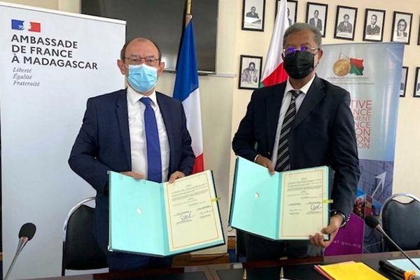 Accord pour l'échelonnement du remboursement du prêt de La France à Madagascar mars 2021