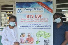 Présentation de la manifestation par les élèves du Lycée Joseph Gaillard, invités à l'établissement de Batelière.