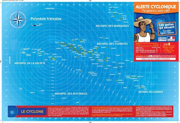 """Brochure du Haut-Commissariat : """"Alerte cyclonique en Polynésie"""" page 1"""