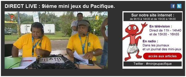 mini jeux du pacifique live Polynesie 1ere