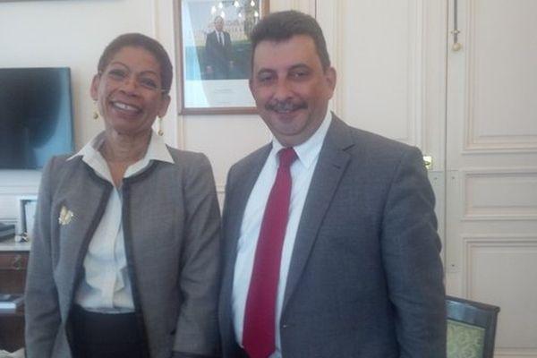 Patrick Lebreton, Député de La Réunion a rencontré la Ministre de l'Outremer, Georges Pau Langevin.