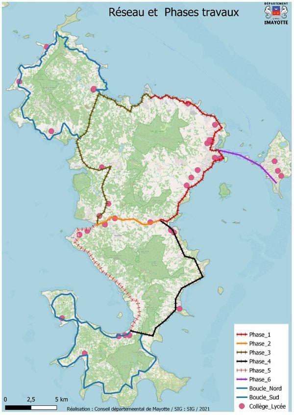 Treni Bilé, le tracé du réseau
