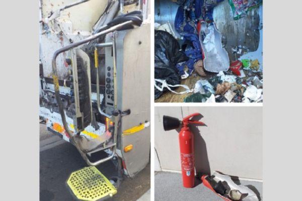 Collecte de déchets : deux agents blessés par l'explosion d'une poubelle qui contenait un extincteur