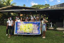 Quelques membres de Zétwal An Syel lors du 1er anniversaire de l'association, samedi 16 octobre 2021.