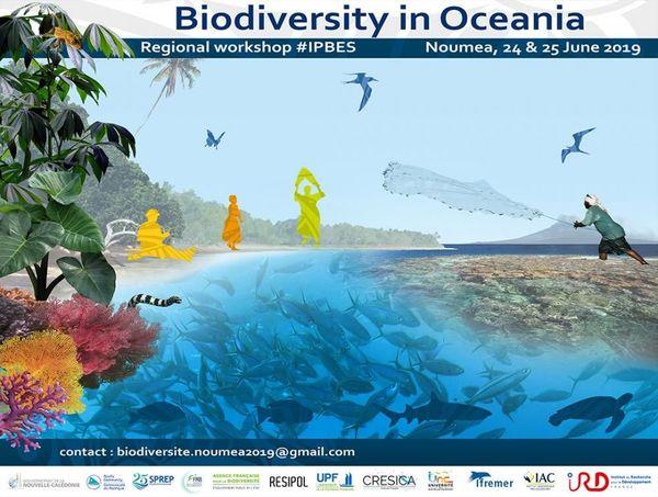 Affiche biodiversité en Océanie