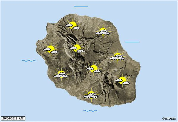 Carte météo du 20 juin 2018