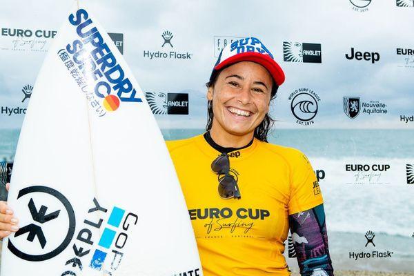 surf johanne Defay remporte l'Euro Cup à Anglet le 230920