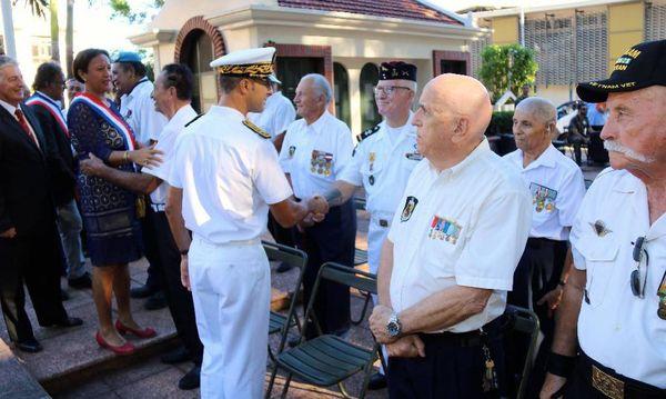 La cérémonie s'est déroulée en présence d'anciens combattants