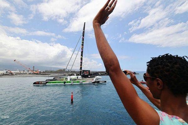 Le navigateur Thomas Coville est arrivé à La Réunion.