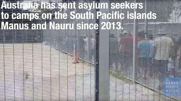 Vidéo de Human right watch sur la situation dans les camps de Manus et Nauru.