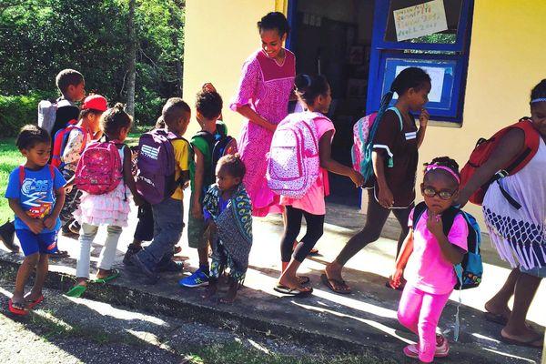 Rentrée scolaire 2019 dans le Nord, Touho, Tiwae
