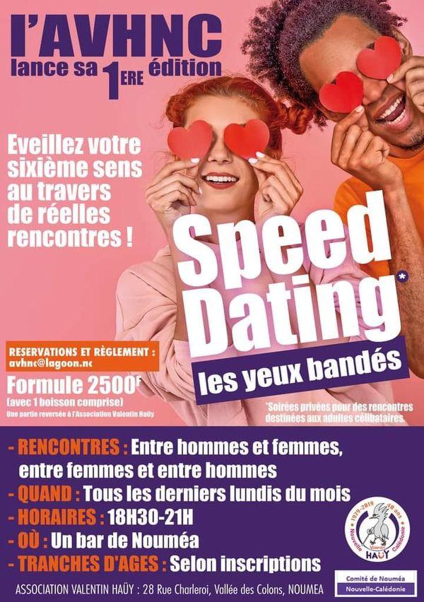 Affiche du speed dating les yeux bandés
