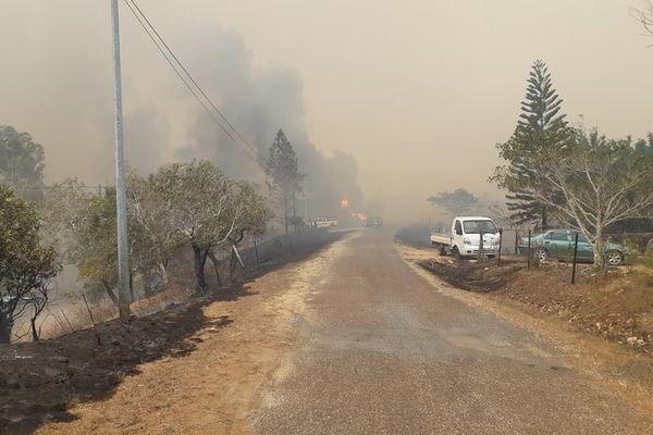 Incendie à Ouégoa