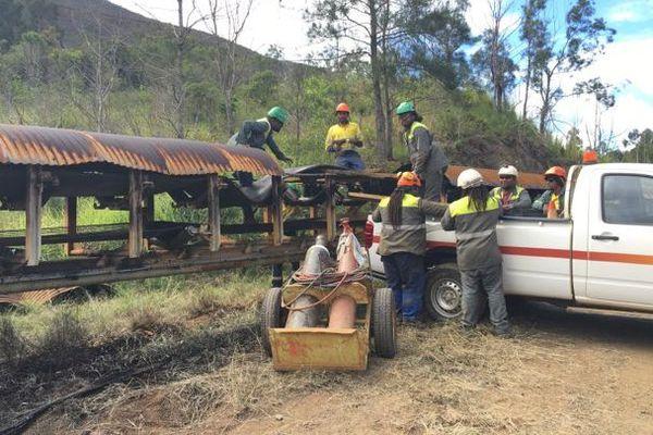 Serpentine incendiée, intervention de la SLN, 9 mai 2018