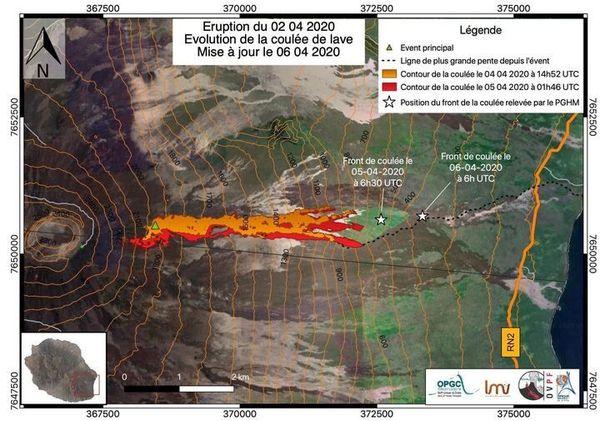 CARTE - Éruption du 02 avril 2020