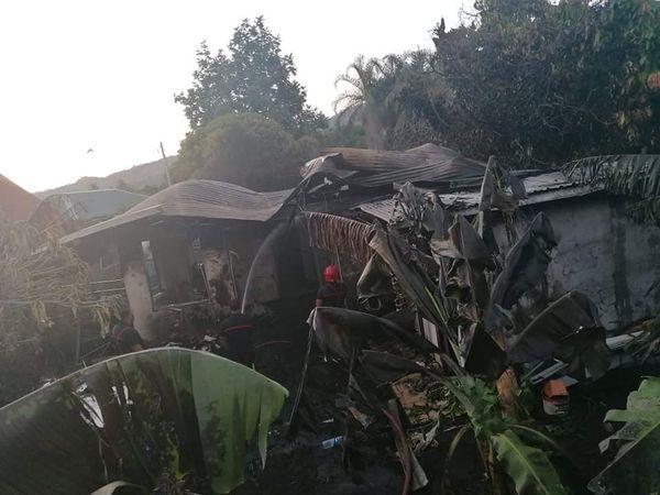 Arue : deux maisons mitoyennes détruites par un incendie