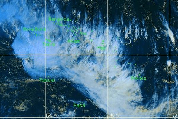 Temps très perturbé sur une bonne partie de la Polynésie